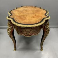 French Boulle & Brass Marquetry Bureau Plat (12 of 13)