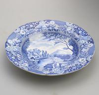 Brameld - Yorkshire Blue & White Pottery Transferware Soup Plate c.1825 (3 of 6)