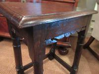 George I Period Antique Oak Joint Stool (4 of 7)