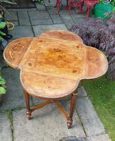 Exceptional 19th Century Marquetry Drop-leaf Centre Table (5 of 9)