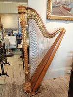Beautiful Erard Gothic Concert Maple & Gilded Harp (2 of 11)
