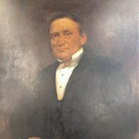 Large Antique Victorian Oil Painting Portrait of Gentleman in Formal Attire (4 of 10)
