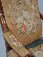 Shapely Mid 19th Century Rosewood Armchair (4 of 5)