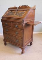Antique Mahogany Small Bureau Writing Desk (5 of 11)