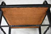 Victorian Ebonised Occasional Chair (8 of 9)