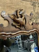 19th Century Mahogany Wall Mirror with Eagle Decoration (4 of 6)