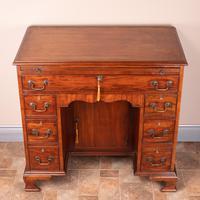 Mahogany Kneehole Desk With Brushing Slide (11 of 17)