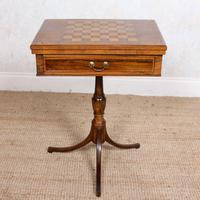 Rosewood Games Table Chess Board Folding Card Table 19th Century (14 of 16)