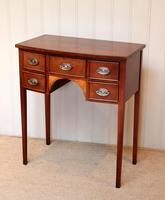 Mid Century Mahogany Bow Front Side Table (10 of 10)