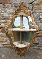 Rococo Mirrored Gilt Corner Wall Bracket 19th Century