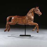 Antique Gustav Bayol Jumping Carousel Horse Late 19th Century