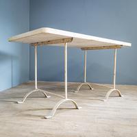 Portland Stone Top Trestle Table (3 of 11)