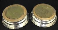 Pair of Edwardian Silver Plated on Copper Bottle Coaster (5 of 5)
