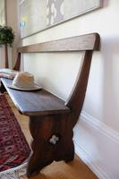 Victorian Pine Bench with Decorative Carved Sides & Curved Back Support (2 of 5)