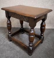 Solid Oak Stool / Occasional Table (8 of 9)