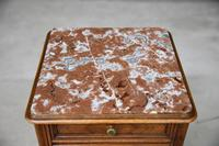French Marble Top Bedside Cabinet 6121646 (11 of 12)