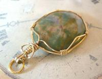 Vintage Pocket Watch Chain Fob 1970s 12ct Gold Plated & Irish Connemara Marble Fob (7 of 10)