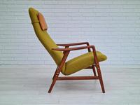 Alf Svensson, 60s, Armchair Model Kontur, Completely Restored, Furniture Wool (4 of 16)