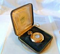 Antique Pocket Watch Box 1900 Bravingtons Velvet Display Box With Recessed Base (2 of 12)
