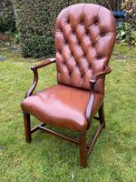 Buttoned Leather Armchair (3 of 8)