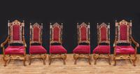Set Antique Oak Dining Chairs - Farmhouse Kitchen Diners 1880 (2 of 11)