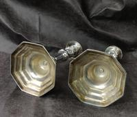 Pair of Late 18th Century Silver Plated Candlesticks (2 of 6)