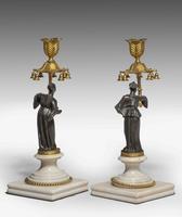 Pair of Regency Period Gilt Bronze Candlesticks (4 of 5)