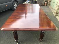 Antique Mahogany 3 Leaf Extending Dining Table (9 of 12)