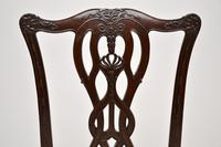 Set of 8 Antique Mahogany Chippendale Style Dining Chairs (5 of 12)
