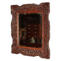 Chinese Red Cedar Framed Mirror (7 of 8)