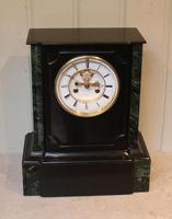 Mid 19th Century Polished Slate Visible Escapement Mantel Clock (14 of 16)