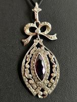 Antique Edwardian Paste Pendant, Sterling Silver (8 of 11)