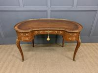 French Kingwood Parquetry Kidney Shaped Desk (8 of 19)