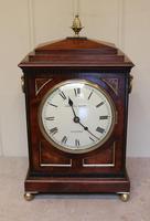 Small  Mahogany Chamfer Top Bracket Clock (9 of 10)