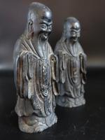 Pair of Late 18th or Early 19th Century Chinese Tomb Figures of Deities (5 of 5)