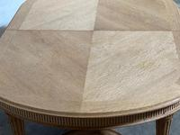 Huge Bleached Oak French Extending Dining Table (19 of 24)