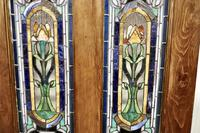 Victorian Art Nouveau Stained Glass Panel Door (3 of 9)
