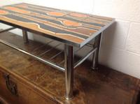 1960s Volcanic Tile Coffee Table on Chrome Supports (2 of 7)