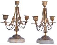 Pair of French Candelabra on Marble Bases (3 of 9)