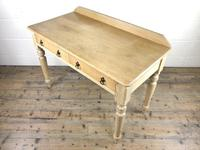 Victorian Antique Pine Two Drawer Side Table (9 of 13)