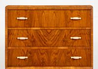 Art Deco Ladies Walnut Compactum (5 of 6)
