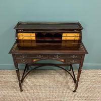 Spectacular Quality Victorian Rosewood Inlaid Antique Writing Desk (4 of 12)