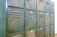 Vintage Industrial 15 Door Metal Workshop Cabinet Locker c.1930 (8 of 14)