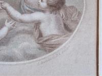 Francesco Bartolozzi 1791 Print after John Howes, 18th Century Colour Impression, Period Frame (6 of 6)