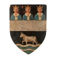 Six Edwardian Heraldic Shield Plaques (4 of 8)