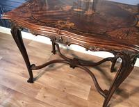 Quality Inlaid Walnut Occasional Table (12 of 18)