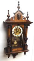 Fantastic Rare Victorian 8-day Wall Clock – Small Antique Striking Vienna Wall Clock (12 of 17)