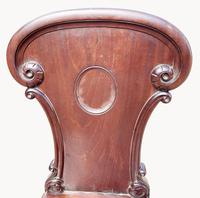 A Superb Quality Early 19th Century Cuban Mahogany Hall Chair (4 of 6)