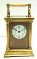 Antique Striking French 8-day Carriage Clock Unusual Masked Dial Case with Enamel Dial (2 of 11)