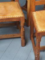 Mouseman Oak Dining Table & Set of 6 Chairs (12 of 20)
